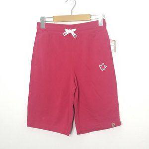 Canadiana | Red Maple Leaf Drawstring Sweat Shorts